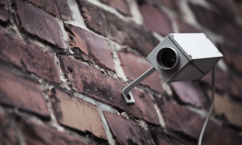 Surveillance Camera on building