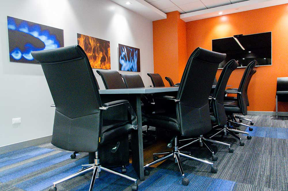 inside of a conference room