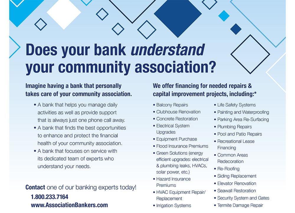 Does your bank understand your community association flyer