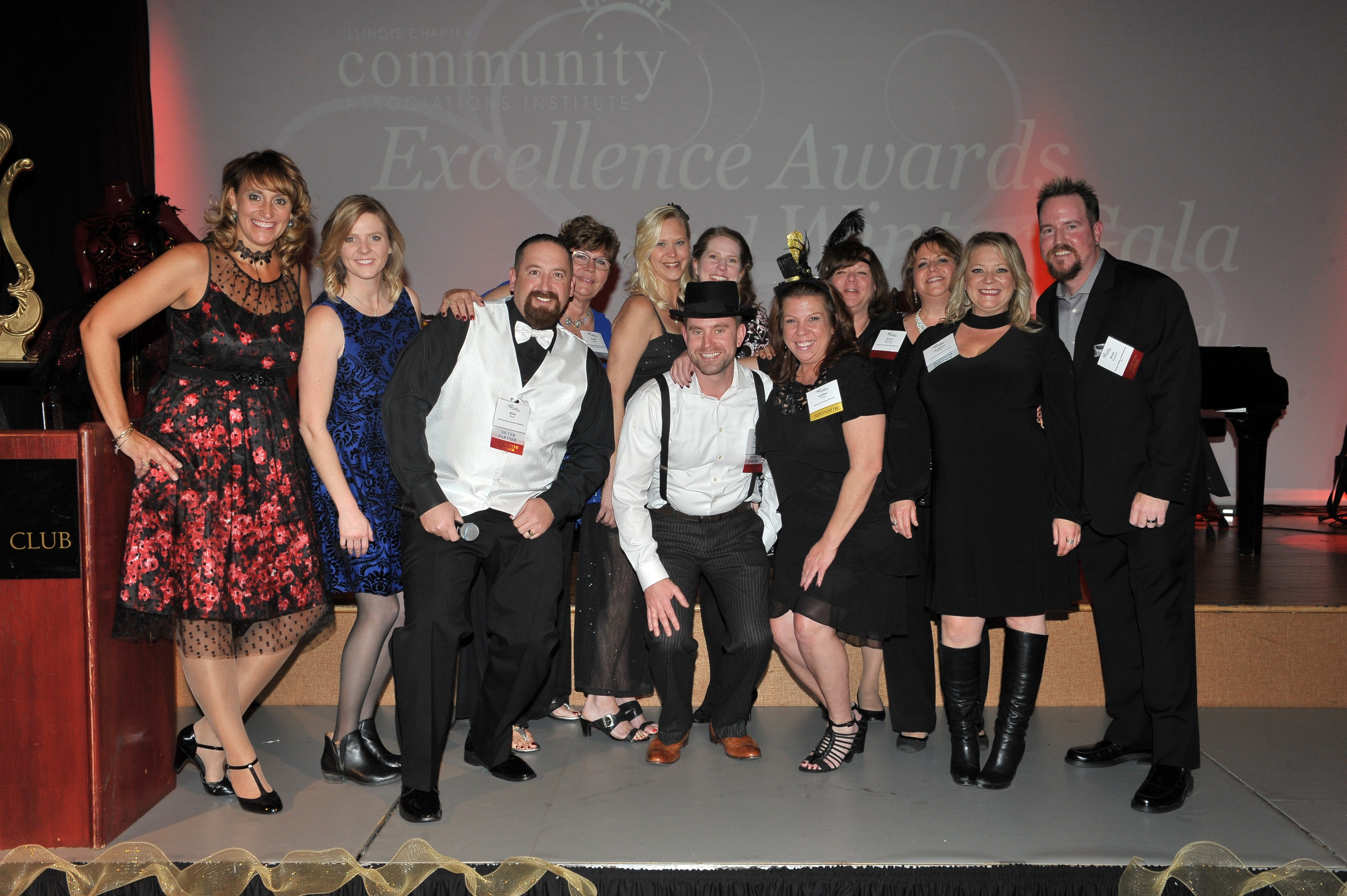 group of volunteers at the winter gala