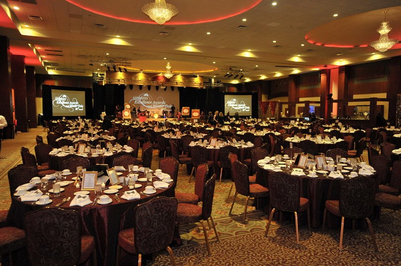 inside the dining room at the 2017 CAI winter gala