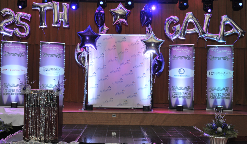 front stage of CAI Winter Gala