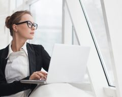 woman researching community association management