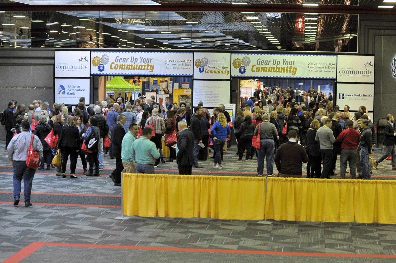 people entering cai illinois 2019 conference and expo