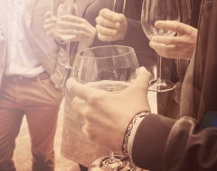 business professionals networking at event