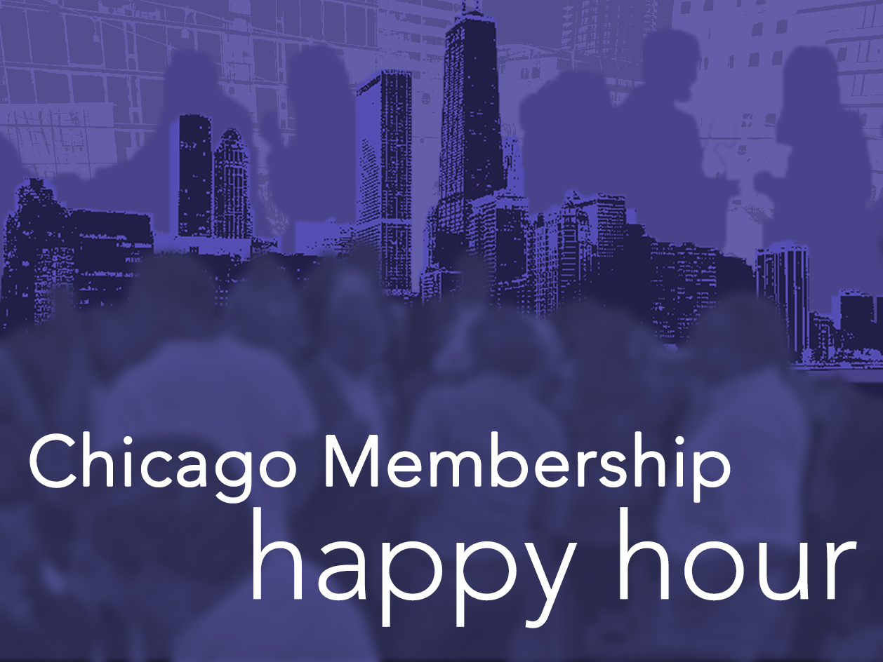 chicago membership happy hour ad
