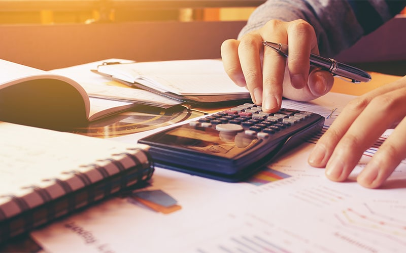 account working calculating budget