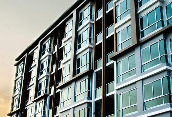 exterior of condo building