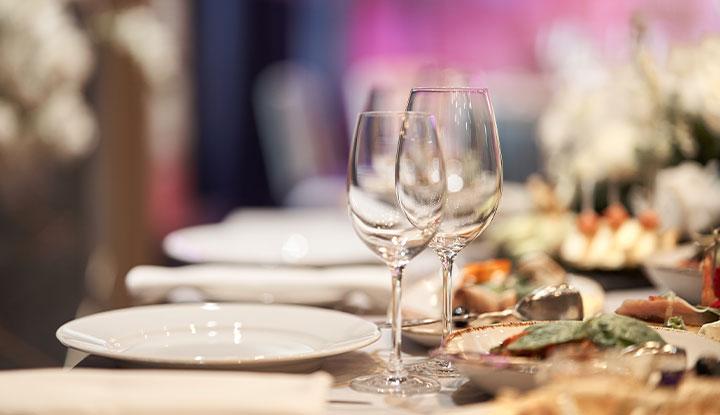 dining setting at banquet