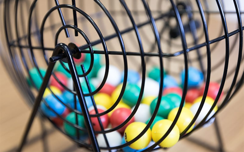 bingo balls inside wheel