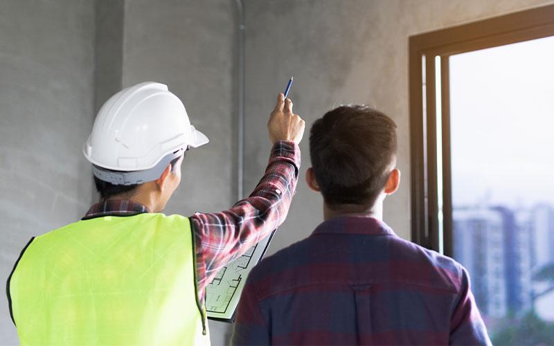 building inspectors reviewing facility
